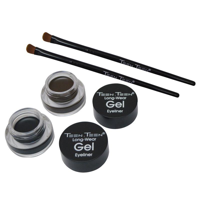TEEN.TEEN Combo Of 2 Long-Wear Gel Eyeliner - Black & Brown