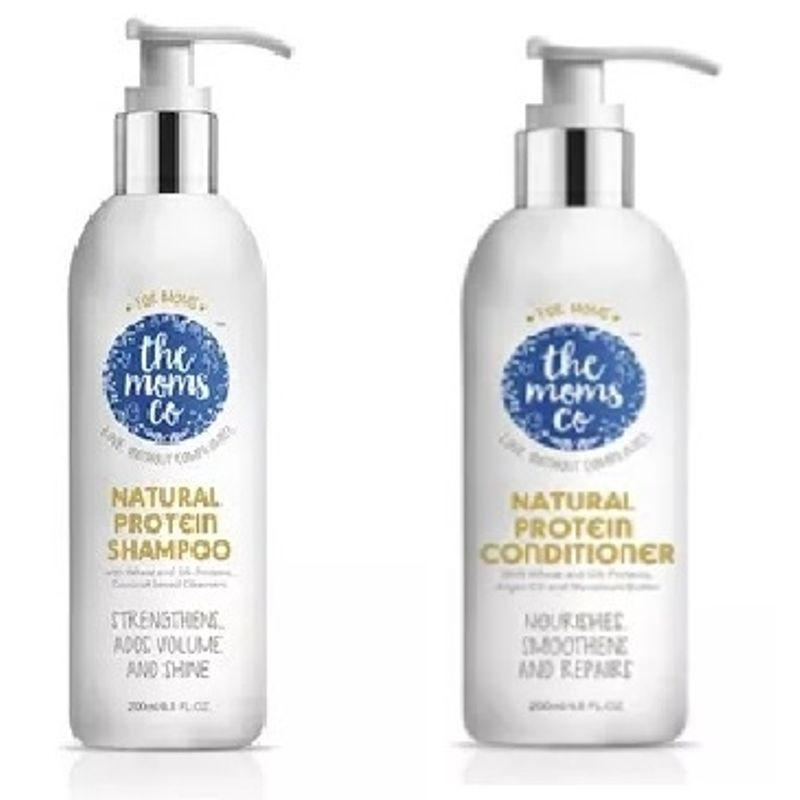 The Moms Co. Natural Protein Shampoo + Conditioner Combo