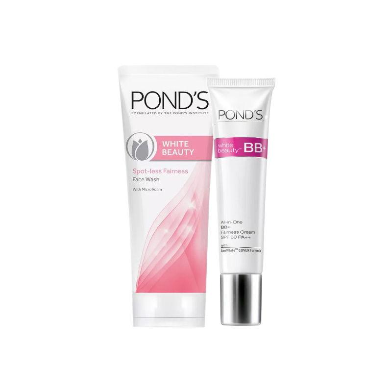 Buy Ponds White Beauty Blemish Balm Fairness Cream (50 Gm) & Get White Beauty Spot-less Fairness Face Wash Combo