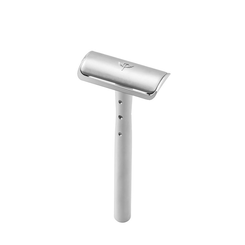 Bombay Shaving Company Precision Safety Razor System With Feather Stainless Blades
