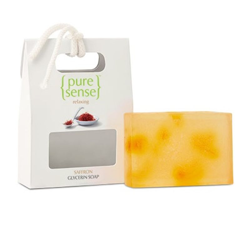 PureSense Relaxing Saffron Glycerine Soap - Sulphate And Paraben Free