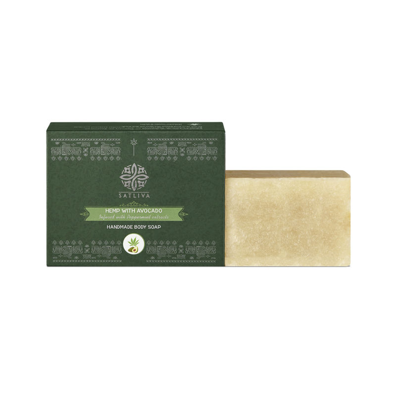 Satliva Hemp With Avocado And Peppermint Extracts Soap Bar