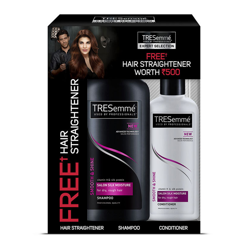 Buy Tresemme Smooth & Shine Shampoo 580 Ml With Conditioner 190 Ml & Get Hair Straightener Free Worth Rs. 500 Free