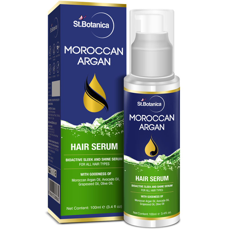St.Botanica Moroccan Argan Hair Serum For All Hair Types