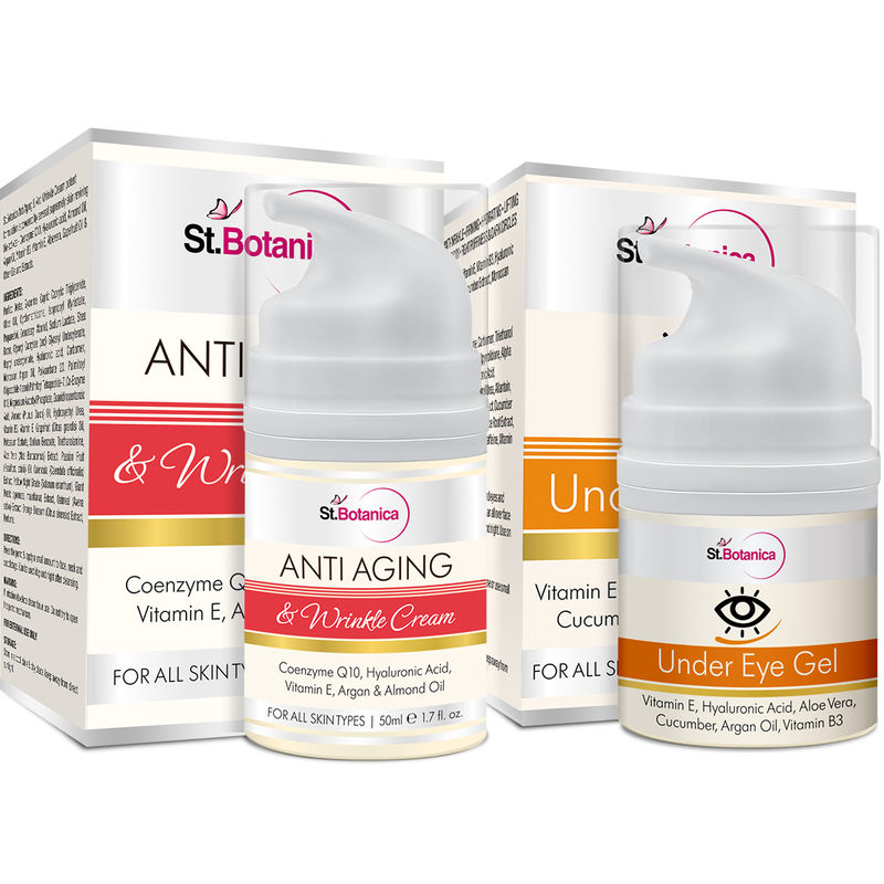 St.Botanica Anti Aging & Anti Wrinkle Cream 50ml + Under Eye Gel (Combo Pack)