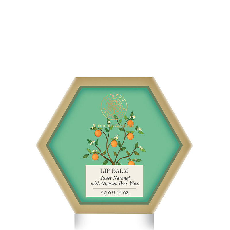 Forest Essentials Lip Balm - Sweet Narangi With Organic Bees Wax