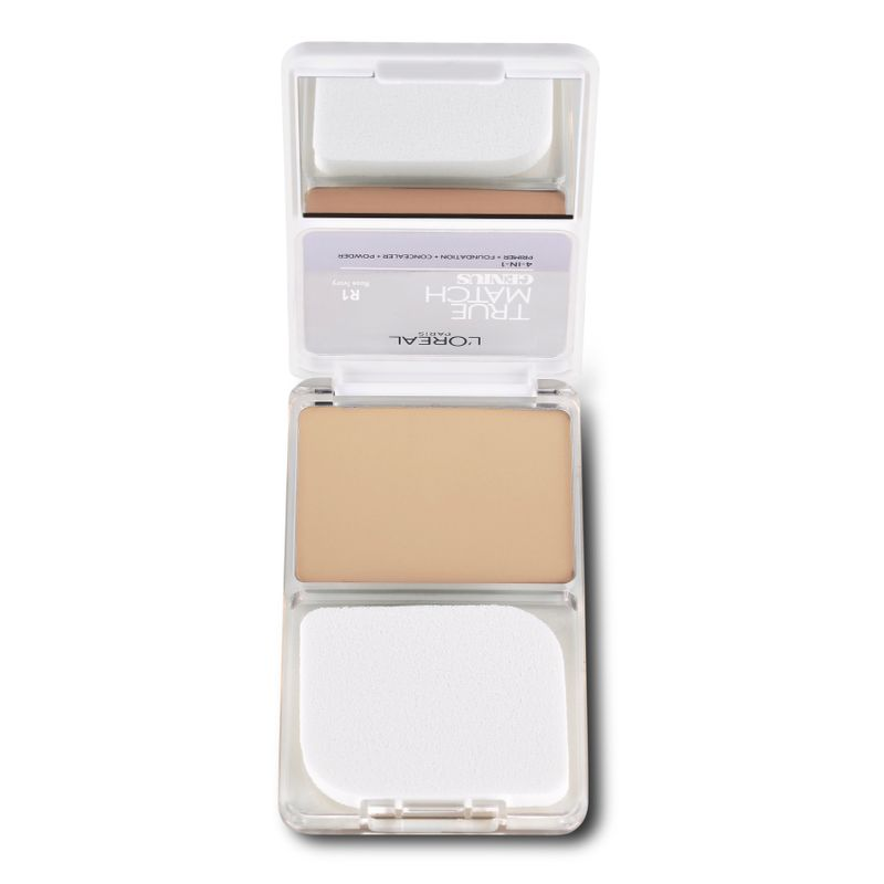L'Oreal Paris True Match Genius 4-In-1 Compact Foundation - Rose Ivory R1 at Nykaa.com