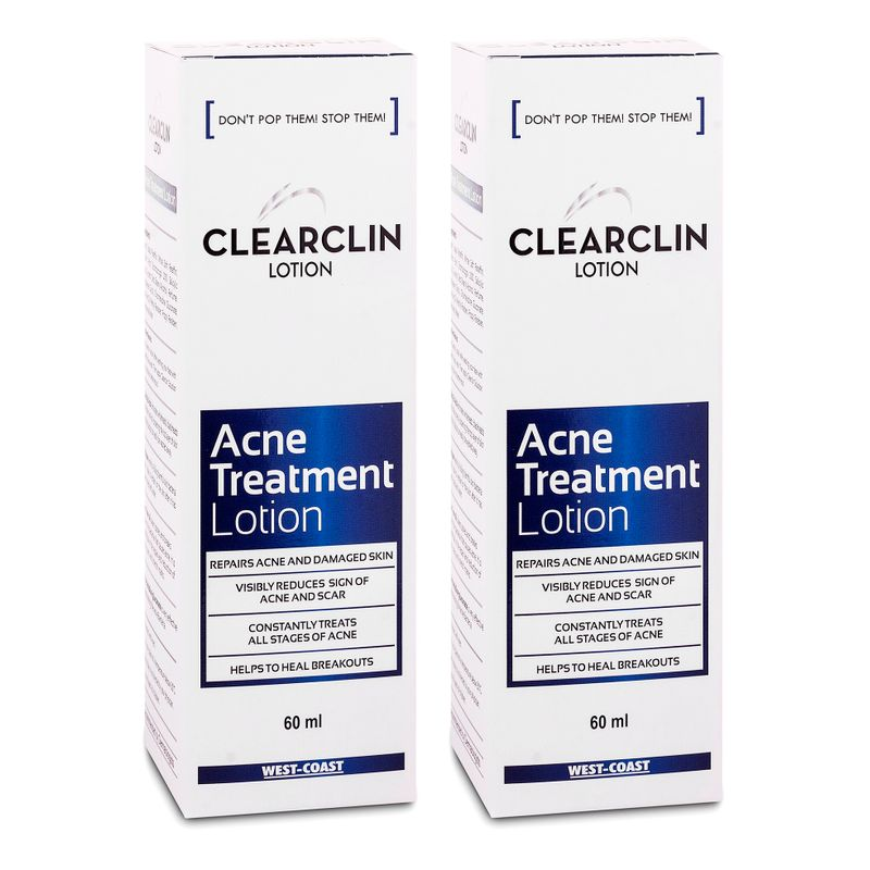 West Coast Clearclin Acne Repair Lotion (Pack Of 2)