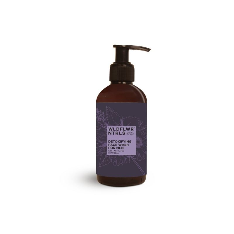 Wildflower Naturals Detoxifying For Men With Activated Charcoal Face Wash