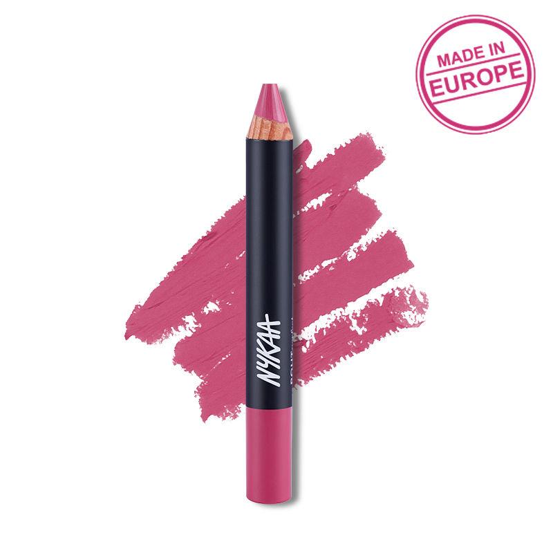 Nykaa Pout Perfect Lip & Cheek Velvet Matte Crayon Lipstick - You Make Me Blush! 08