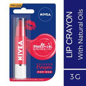 Nivea Coloron Lip Crayon Pop Red