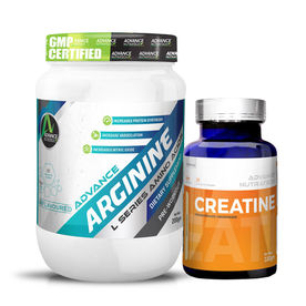 Advance Nutratech Arginine Aminos & Creatine Monohydrate Unflavoured Powder Combo