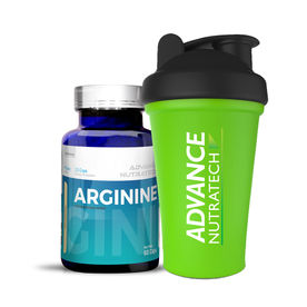 Advance Nutratech Arginine Aminos 60 Capsules With Free Shaker