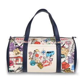 e94d0eee47 Thathing Multicolor Bucket List Doodle Spacious Duffel Bag
