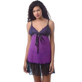 66764a0161 Da Intimo Sensual Neon Baby Doll - Purple