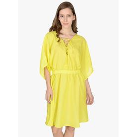 e0a449c5a8831 Da Intimo Solid Kaftan Cover-Up Dress - Blue at Nykaa.com