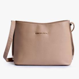 2355ef46a7bb Lino Perros Beige Leatherette Handbag