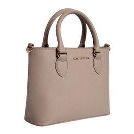 Lino Perros Beige Faux Leather Handbag d2dafc5437