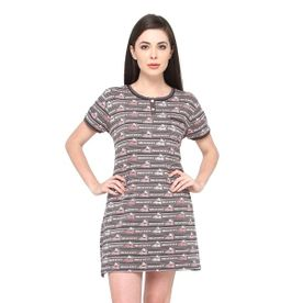 e316d7a9d3 Valentine Knee Length Nighty For Women Poly Cotton Material - Multi-Color