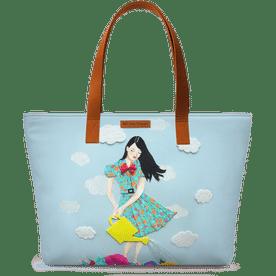 135e5e52520f DailyObjects Girl In Flowerland Fatty Tote Bag