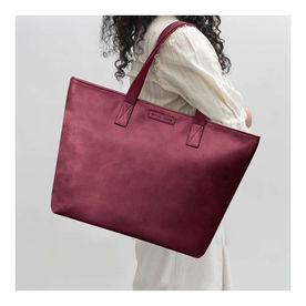 DailyObjects Burgundy Faux Leather Fatty Women s Tote Bag 14e2f6b32f8b1