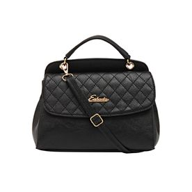 e19193e441c Esbeda Women s Checked PU Synthetic Handbag - Black (NH29082.
