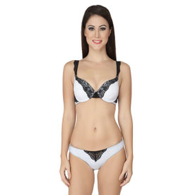 Soie Navy Bra And Panty Set With Draped Effect Balconette Bra And ... 3176bd2f0