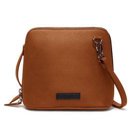 e2eb7b093972 DailyObjects Tan Faux Leather - Trapeze Crossbody Bag