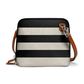 DailyObjects Vintage Black Stripes - Trapeze Crossbody Bag 2407decef77d0
