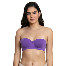 07682a418 Zivame Padded Wired Strapless T-Shirt Bra - Lavender