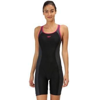 c2020b4c78 Speedo Female Swimwear Essential Splice Muscleback Legsuit - Black ...