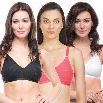 bb959759d0e78 Bodycare Perfect Coverage Bra In Black-Coral-White Color - Pack Of 3 ...