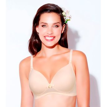 e676c044e0 Enamor F065 Full Support T-Shirt Padded   Wirefree Bra - Nude at ...