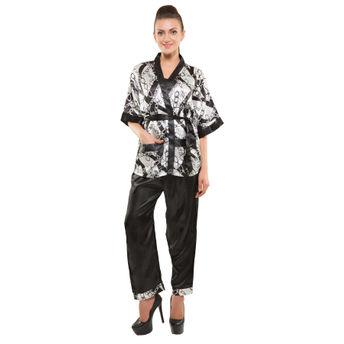 52df706fe90255 Kate Black Printed Satin Pajama Set (Free Size) at Nykaa.com