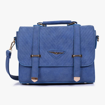 Lino Perros Blue Leatherette Sling Bag at Nykaa.com 1e0c5cf475780