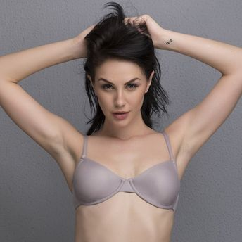 d648d3a9d5 Clovia Butter Soft Seamless Non-Padded Underwired Bra - Grey (34B)(34B)