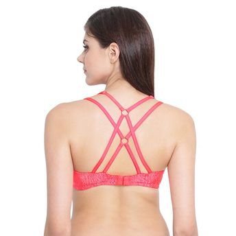 ca7b6b628b7 Clovia Padded Underwired T-Shirt Cage Bra - Pink at Nykaa.com