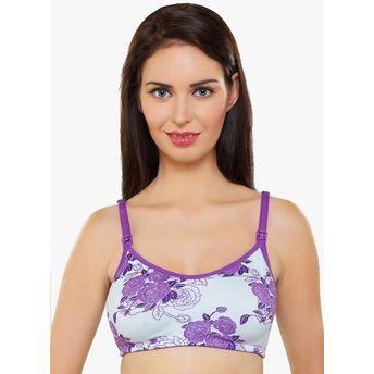 4024161ebc2cb Inner Sense Organic Antimicrobial Soft Women s Nursing Bra - Purple ...