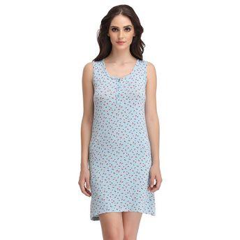7a63ed032290 Clovia Nightdress - Buy Clovia Floral Print Sleeveless Short Nighty ...