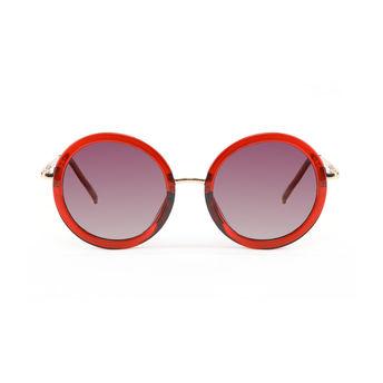 bf540d467bda7 Marie Claire MC010 C4 Round Polarized Sunglasses - Burgundy at Nykaa.com