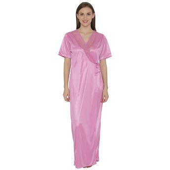 3442bea953be9 Clovia Long Satin Robe - Purple (Free Size) at Nykaa.com
