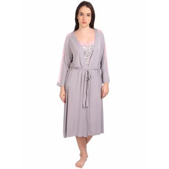 8a700a5641 S.O.I.E Women s Night Gown With Matching Robe - Multi-Color at Nykaa.com