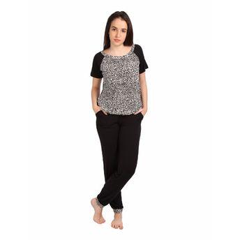 51378164f8 S.O.I.E Women s Top And Pajama Set - Black (M) at Nykaa.com