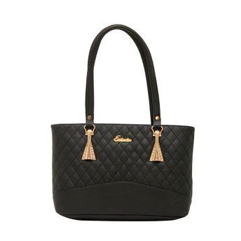 f4a245339 Esbeda Women s Checks PU Synthetic Fabric Handbag - Black ...