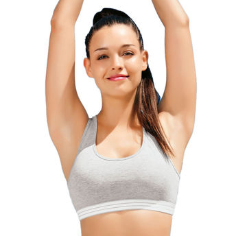 9101d8b7277a8 Enamor Wirefree Non-Padded Sports Bra - Grey Melange at Nykaa.com