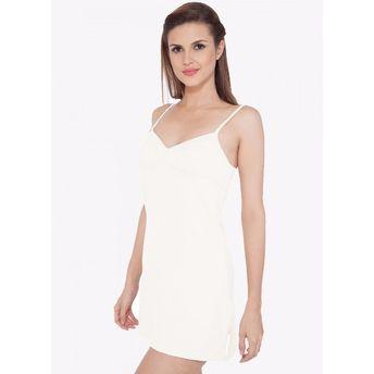 d6163a122c S.O.I.E Women s Cotton Spandex Long Camisole - White at Nykaa.com
