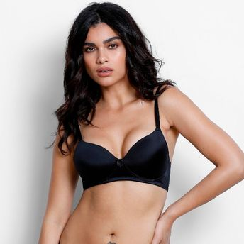 3ddeeca115 Zivame Padded Wirefree T-Shirt Bra - Black at Nykaa.com